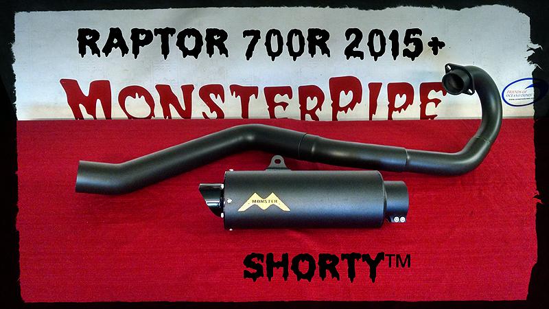 Raptor 700R 2015+ MonsterCore ™ Single Exhaust